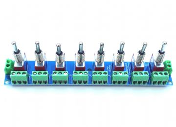 RKtoggle8 Toggle Switch Module for Model Railway  - Self Build Kit